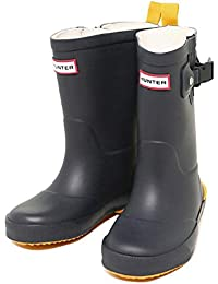 ハンター ブーツ キッズ HUNTER W25352 NYE DAVISON KIDS レインブーツ/長靴 NAVY/YELLOW[並行輸入品]