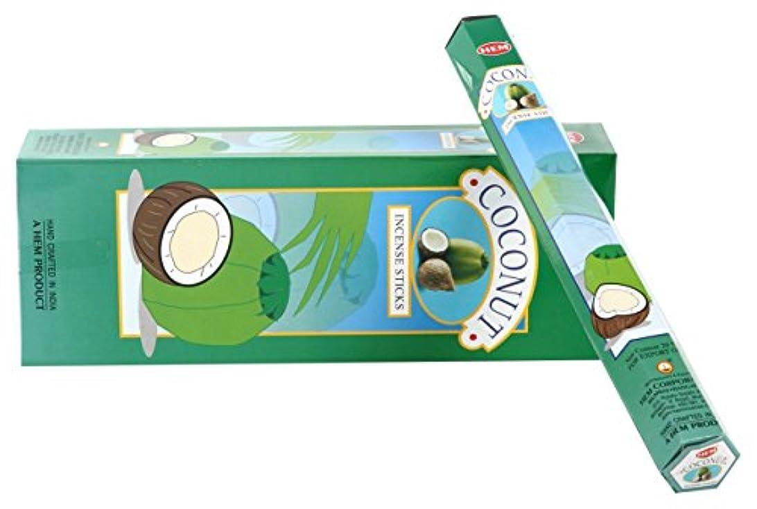 証人完全に乾く政治的HEM六角香6個セット-ココナッツ