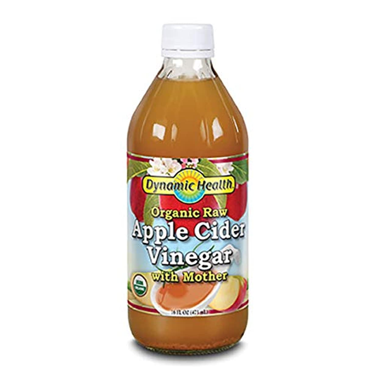 運営献身スリルDynamic Health Organic Raw Apple Cider Vinegar With Mother  16 oz (473ml) [並行輸入品]