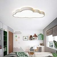 LXX-シーリングライト 北欧スタイルの家子供のプリンセスルームの装飾高輝度、省エネLED3色の高品質天井ランプ (Color : 白, サイズ : 60cm)