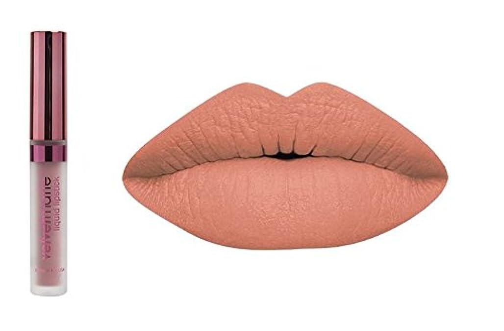 謎キノコシーボードLA Splash LA-スプラッシュ化粧品ビロードマットリキッド口紅 キャラメルblondies