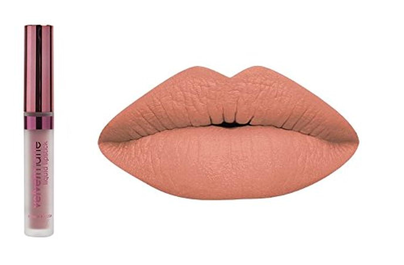 品種行商所有権LA Splash LA-スプラッシュ化粧品ビロードマットリキッド口紅 キャラメルblondies