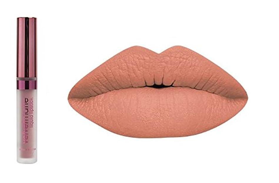 パイント誰でも薄暗いLA Splash LA-スプラッシュ化粧品ビロードマットリキッド口紅 キャラメルblondies