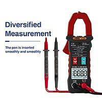 DeeploveUU AUTOデジタルクランプメーター4000カウントDC / AC電流電圧クランプアナログマルチメーターTrue RMS ST204 NCVテスト