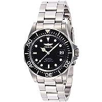 Invicta Men's 8926 Pro Diver Collection Automatic Watch, Silver-Tone/Black Dial/Half Open Back