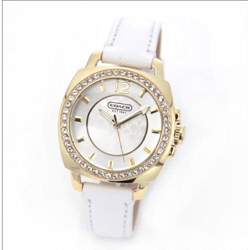(コーチ) COACH 時計 ボーイフレンドミニ レディース 腕時計 シルバー ホワイト ゴールド ステンレススチール ラインストーン レザー 14501790 ブランド 並行輸入品