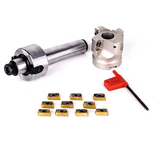 CNC フライス ペニスミル 50mm 超硬チップ10枚セット MT3 MT2 19mmシャンク (MT2) [並行輸入品]