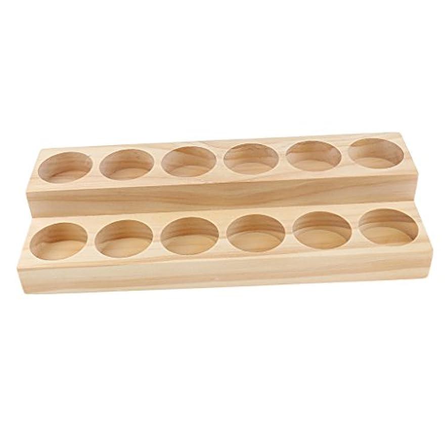 とにかく予想する水没Fenteer オイルホルダーディスプレイ オイルホルダー 木製 トレイ オーガナイザー 全5タイプ - 21.8x8x3.8 cm