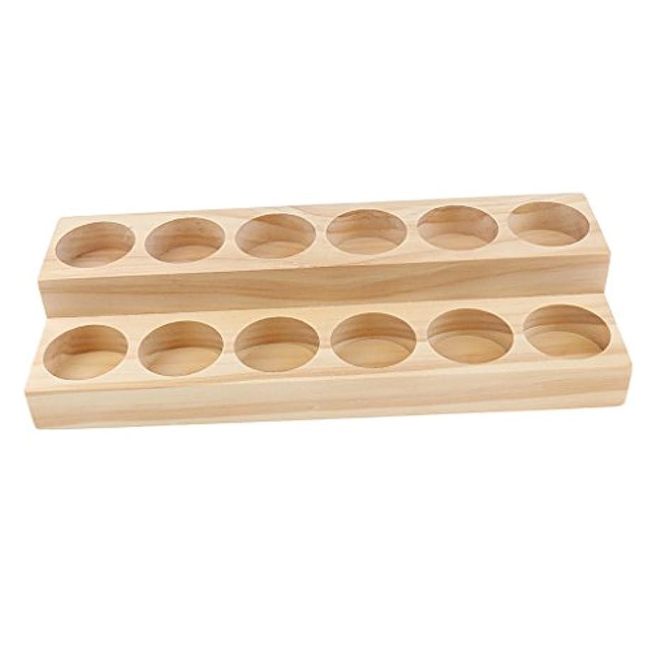 袋続編グラフFenteer オイルホルダーディスプレイ オイルホルダー 木製 トレイ オーガナイザー 全5タイプ - 21.8x8x3.8 cm