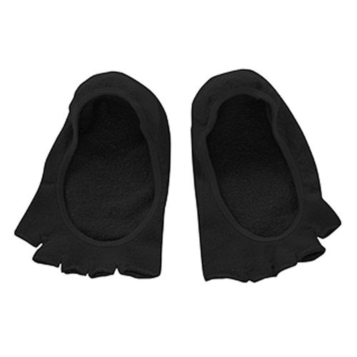 飾る翻訳者窒素コクーンフィット 5本指オープントゥのフットカバー(かかとシリコン付き) ブラック