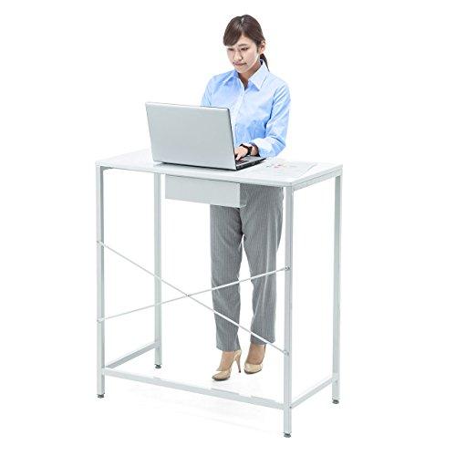 サンワダイレクト スタンディングデスク 幅90cm 高さ100cm パソコンデスク PCデスク 立ち作業 100-DESKF009