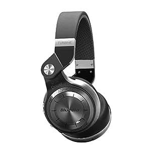 Bluedio T2+ (Turbine 2Plus) ブルートゥースイヤホン Bluetooth ヘットセット ワイヤレスヘッドホン SDカード FMラジオ機能 回転式 ブラック