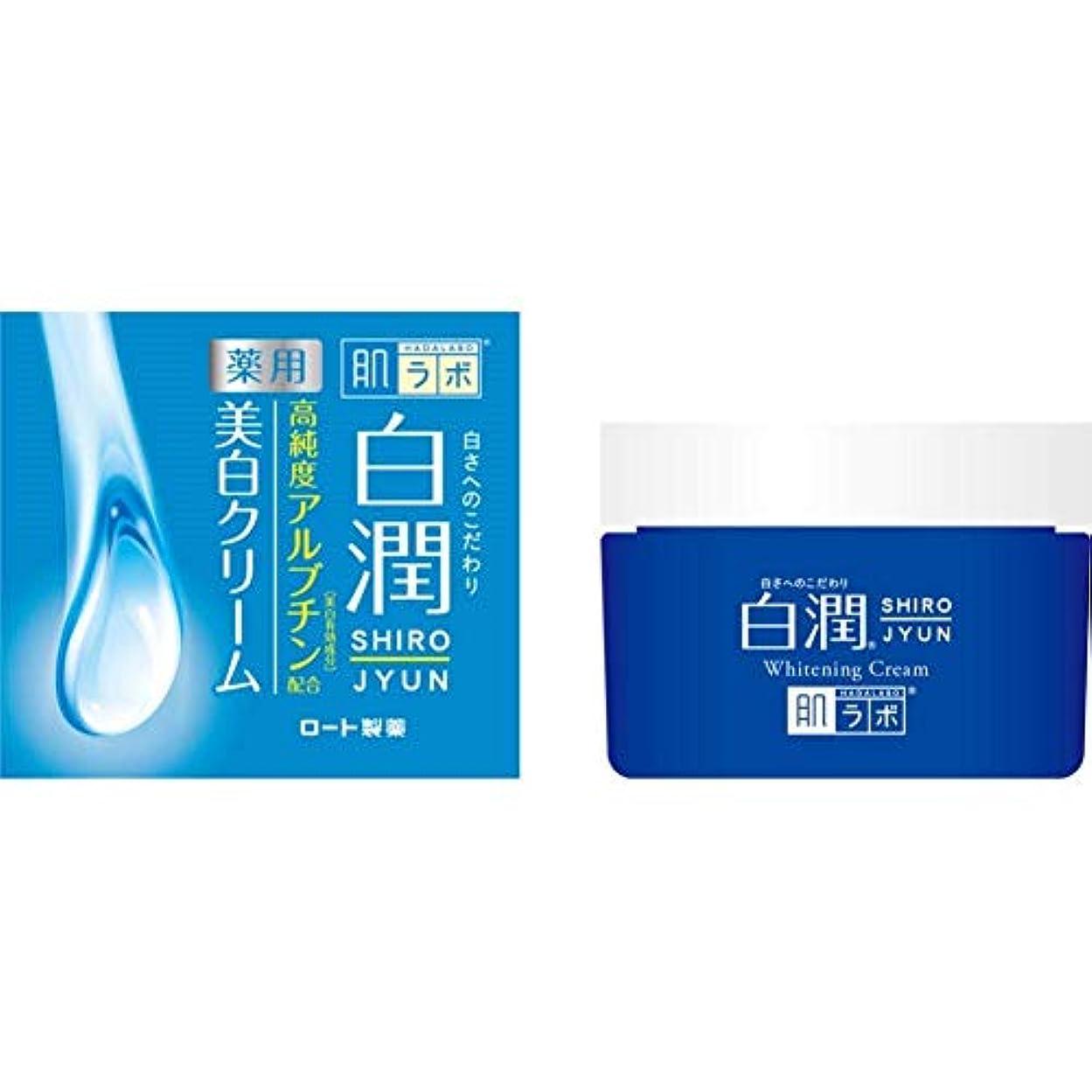 公平な先行するタンク【ロート製薬】肌研 白潤薬用美白クリーム 50g(医薬部外品) ×3個セット
