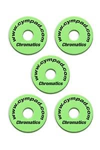CYMPAD  クロマティクス シンバルワッシャー グリーン 5個セット 40mm×15mm LCYMCRM5SET15GR