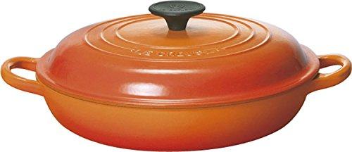 ルクルーゼ ビュッフェ キャセロール ホーロー 鍋 IH 対応 26cm オレンジ 2532-26-09