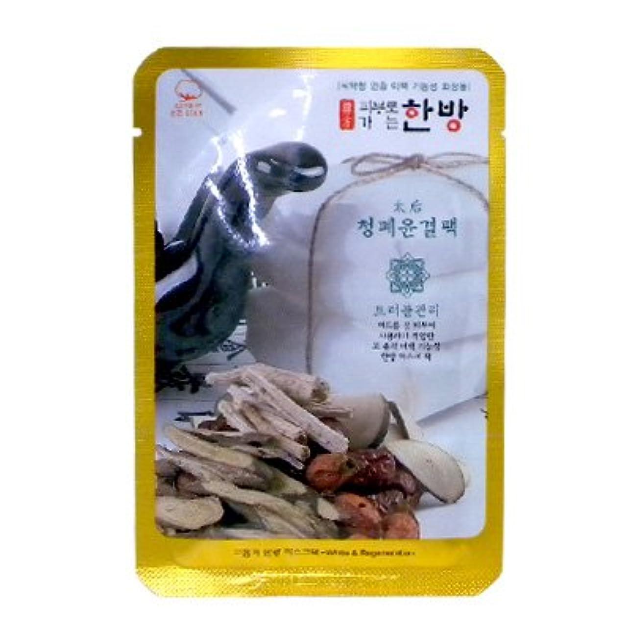 乳白色小道具等価韓方マスク エルエス パック A (健康ハリ肌)