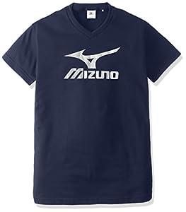 (ミズノ)MIZUNO バレーボール ユニセックス ジュニア プラクティスシャツ V2JA4080 80 ネイビー×シルバー L