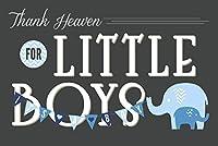 Thank Heaven for Little Boys 12 x 18 Art Print LANT-56599-12x18