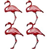 (Flamingo) - Eyelet Outlet Shape Brads 12/Pkg