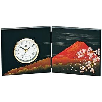 屏風時計(中) 富士さくら <富士山> M14326-3