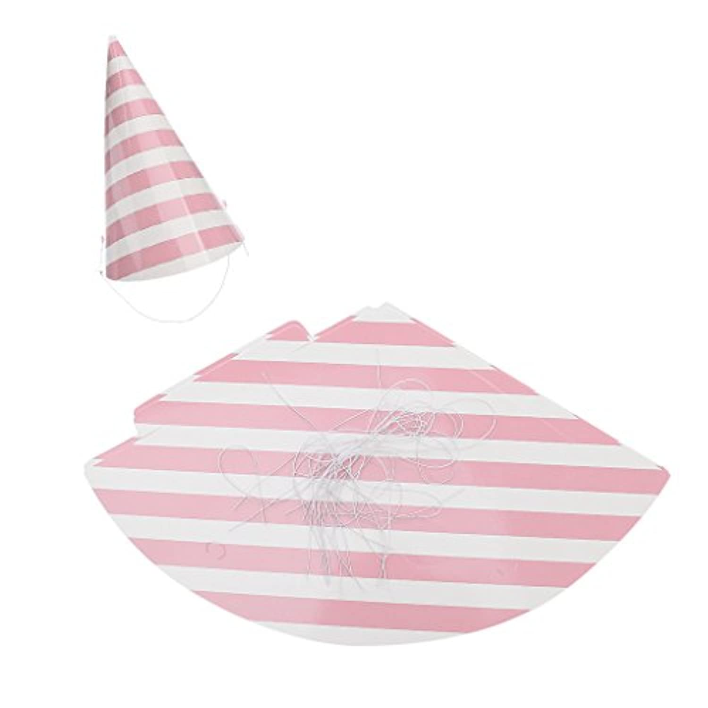 Lovoski 子供たち 大人 パーティー お祝い ハット 誕生日の帽子 パーティーの装飾 全6色 12個   - ピンク