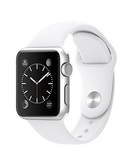 Apple Watch Sport 38mmシルバーアルミニウムケースとホワイトスポーツバンド