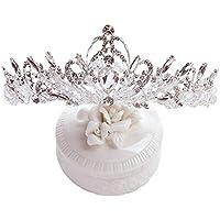 Tiara Kids Crown Headdress Crystal Headband Child Birthday Card Issuance Show Hair Accessories