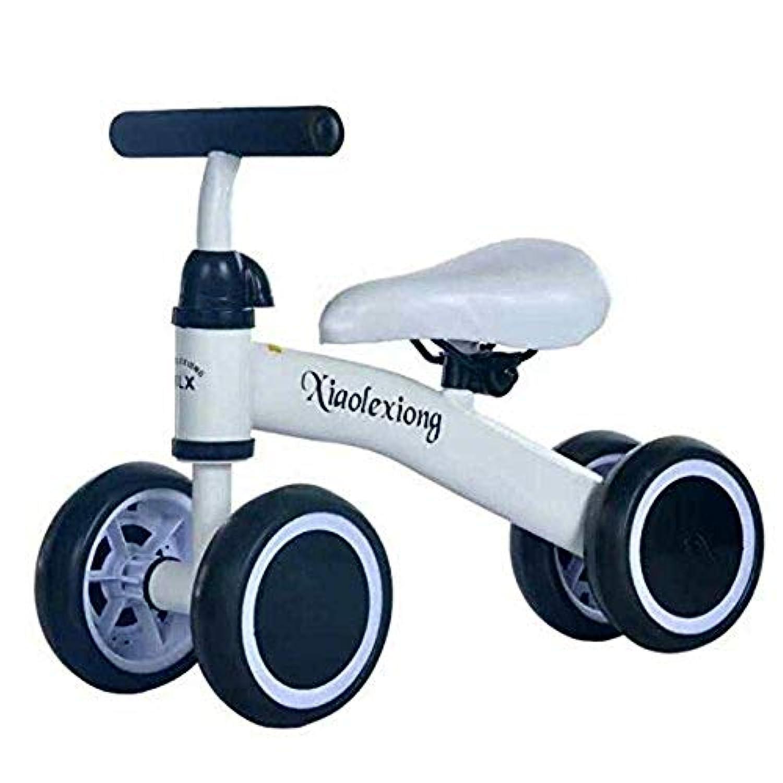MYHO子供用 チャレンジバイク 四輪仕様 バランス三輪車 幼児用 軽量 ペダルなし自転車 キッズ 幼児 乗り物 乗用玩具 シンプル おしゃれ