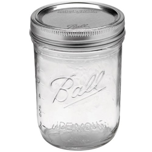 BALL メイソンジャー [ ワイドマウス 480ml クリア ] Mason jar WIDE MOUTH 正規品