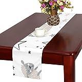 GGSXD テーブルランナー 幼い 羊 クロス 食卓カバー 麻綿製 欧米 おしゃれ 16 Inch X 72 Inch (40cm X 182cm) キッチン ダイニング ホーム デコレーション モダン リビング 洗える