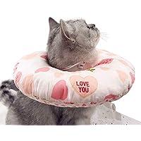 V-Dank やわらか エリザベスカラー 犬 猫 ソフト 綿質 軽量 術後 傷口保護 傷舐め防止 引っ掻き防止 介護 ヘルスケア 術後ウェア (ピンクL)