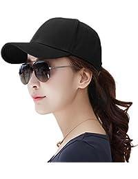 (シッギ)Siggi キャップ レディース 帽子 メンズ 黒 無地 スポーツ ゴルフ uv コットン 大きいサイズ 56-60cm