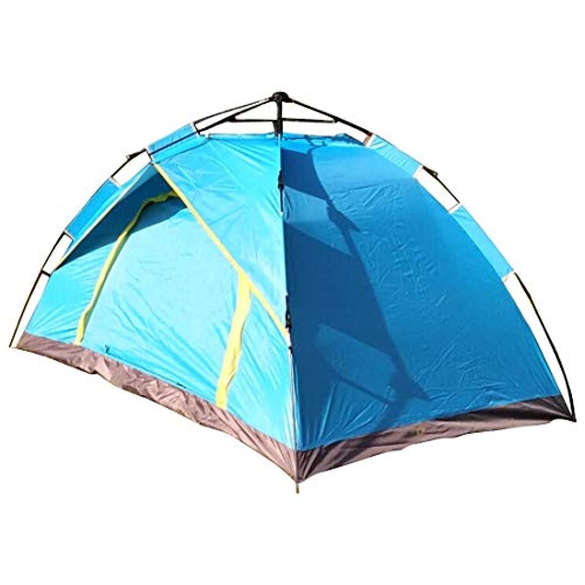 飾る透過性待つ屋外のキャンプのためのMHKBD-JP 2人のテント キャンプテント (色 : 青)