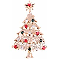 Vi.yo ブローチ クリスマスツリー 胸元 輝く クリスマス プレゼント ギフト 贈り物 パーティー 結婚式用  クリスマス用品