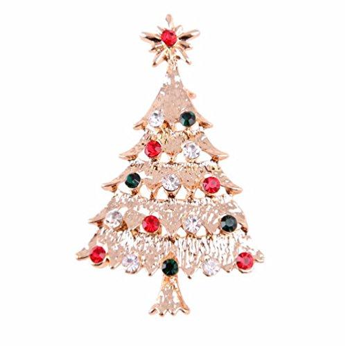 [해외]Doitsa 브로치 가슴 라인 스톤 크리스마스 트리 빛나는 선물 선물 심플 반짝이 골든/Doitsa brooch Breast rhinestone Christmas tree shining gift gift Simple glitter golden