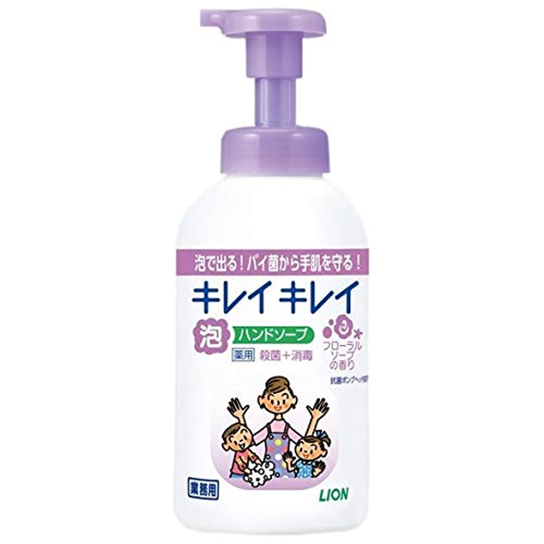 ライオン キレイキレイ 薬用泡ハンドソープ フローラルソープの香り 業務用 550ml 1セット(12本)