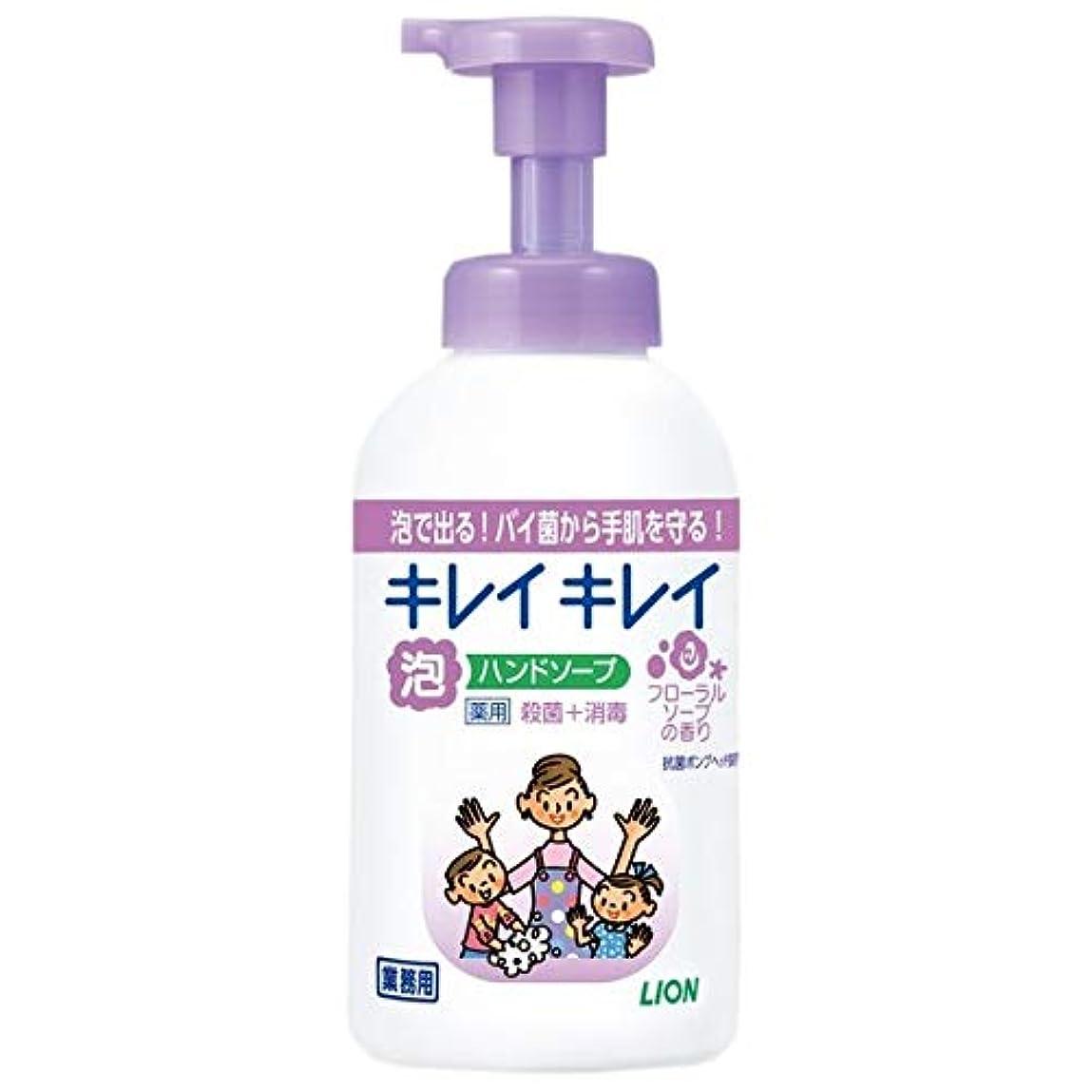 意図サイレンパシフィックライオン キレイキレイ 薬用泡ハンドソープ フローラルソープの香り 業務用 550ml 1セット(12本)