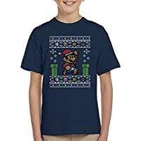 Cloud City 7 Christmas Super Mario Pixel Knit Kid's T-Shirt