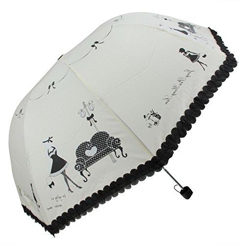 BXT 傘 晴雨傘 折りたたみ 日傘 手開き 日傘 UVカット 紫外線防止 軽量 大きめ 遮雨 遮熱 遮光 晴雨兼用 日傘 4段日傘 8本骨 日傘 かわいい 晴雨 日傘 レディース 女性用 人気雨傘 アウントドア クリーム色