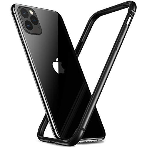 CASEKOO iPhone 11 Pro ケース アルミバンパー 薄型 おしゃれ レンズ保護 衝撃吸収 アイフォン 11 Pro ケース アルミ+シリコン 軽量 脱着簡単 ブラック 2019年5.8インチ用