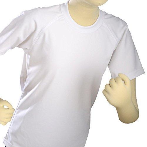 (シュンソク)瞬足 半袖丸首体操服 スタンダードモデル 白 130cm s2600
