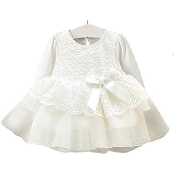 16c25ab804e6e ベビー ドレス お宮参り ワンピース 新生児 フォーマル 結婚式 白 女の子 ベビー服 赤ちゃん (60