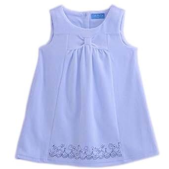 (キャサリンコテージ) Catherine Cottage子供服 ベビー ワンピース 卒園式 アリス刺繍ベロアジャンパースカート 100cm サックスブルー TK4036