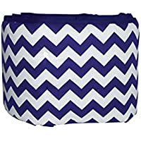 Baby Doll Bedding Chevron Crib Bumper, Plum by BabyDoll Bedding