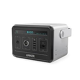 Anker PowerHouse (ポータブル電源 434Wh / 120,600mAh) 【PSE認証済 / 静音インバーター / 正弦波 / USB & AC & DC出力対応 / PowerIQ搭載】 キャンプ、緊急・災害時バックアップ用電源