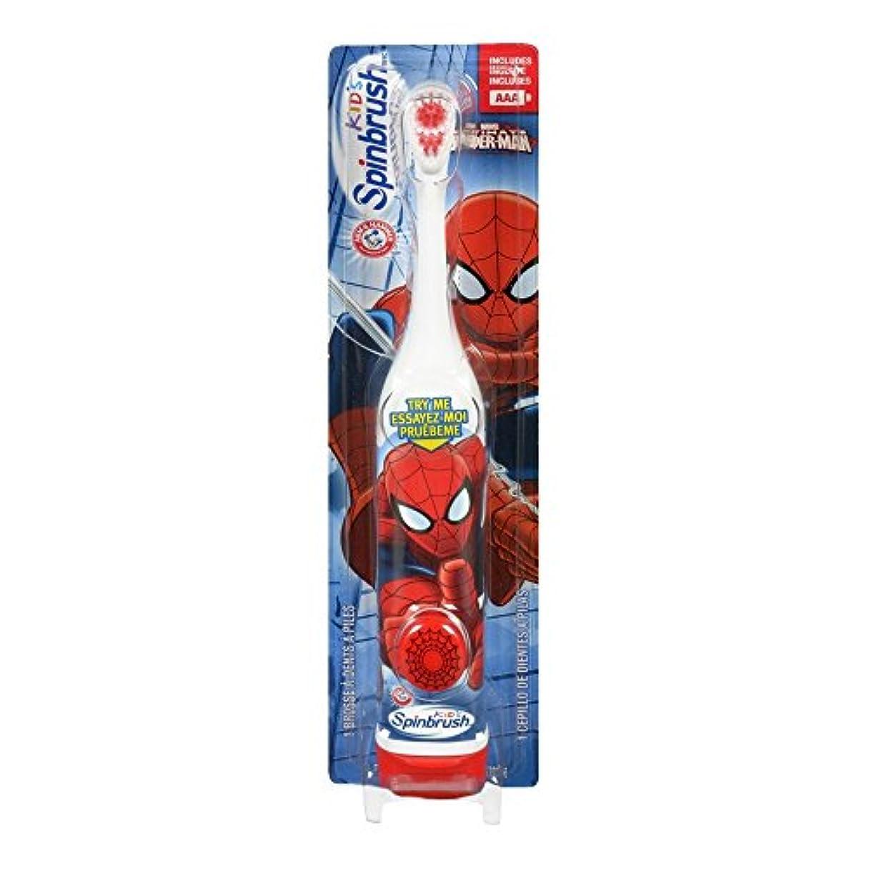 ちょっと待って平和モールARM & HAMMER Kid's Spinbrush Spiderman 1 Each (Pack of 6) Designs May Vary 141[並行輸入]
