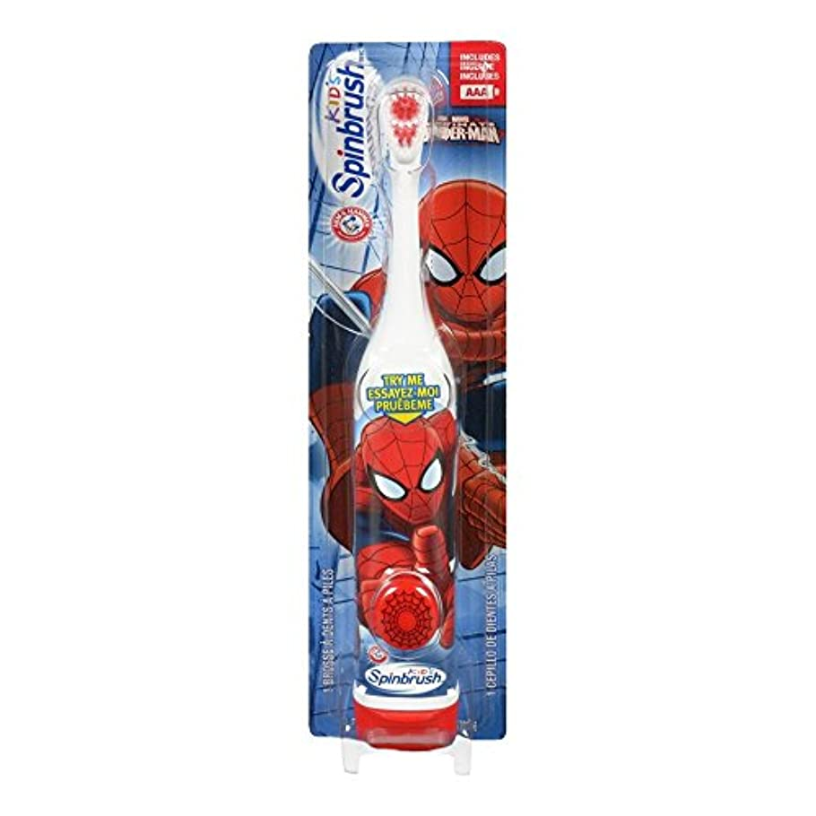 永久そしてジャンプARM & HAMMER Kid's Spinbrush Spiderman 1 Each (Pack of 6) Designs May Vary 141[並行輸入]