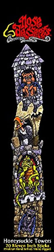 爵帰するスラム街Nose Desserts ハニーサックルフレグランス香り ブランドスティック香 11インチスティック20本 カラーパッケージ 1パック