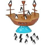 卓上 海賊 ボート ペンギン バランス ゲーム Don't Rock The Boat キッズアクションゲーム 誕生日ギフト