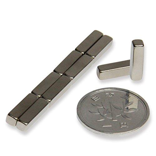 磁石 小型 強力 ネオジム ネオジウム マグネット/長方形 3.2mm×3.2mm×12.7mm(10個)